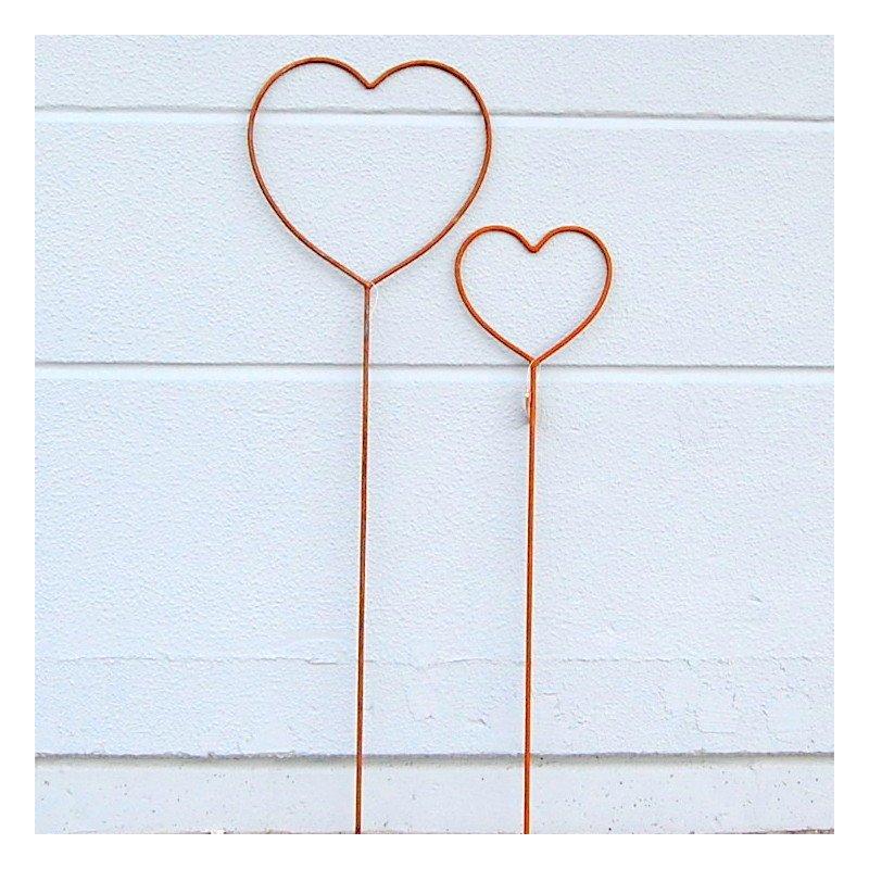 Herzen zum valentin zur hochzeit oder einfach so 13 95 for Deko aus metall rost